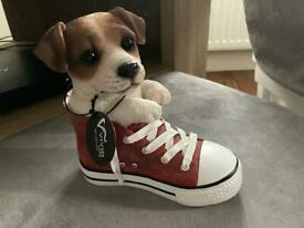 Jack Russell in sports shoe ornament - New in box