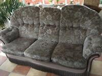 Three seater and two armchairs sofa
