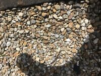 Coloured pebbles 10mm. To 20mm for landscaping bagged ready to lift