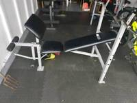 Weight bench in gd codition has little paint bits on it but doesnt affect use