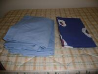 Single size fitted bottom sheets. Chambray Blue