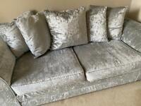 Crushed Velvet 3 piece sofa set SOLD