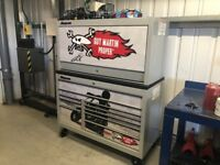 """55"""" snap on tool box with hutch"""