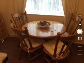 Table and 4 chairs in good condition buyer to collect.