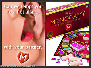 MONOGAMY ADULT BOARD GAME for HOT AFFAIR FUN COUPLE ROMANTIC GIFT FACTORY SEALED