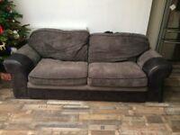 Large Grey corduroy sofabed somtoile