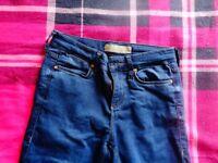 ladies topshop skinny dark wash jean