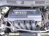 1999-2008 TOYOTA AVENSIS 1.8 VVTI ENGINE 1ZZFE 48,000 MILEAGE ONLY