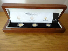 22 Carat Gold Tristan Da Cunha Trafalgar Fractional Guinea Set Limited Edition only 999 sets.