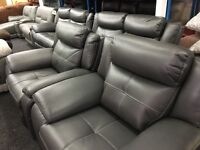 New/Ex Display LazyBoy Electric Grey 2 + 2 Seater Recliner Sofas + 1 Seater Electric Recliner Chair