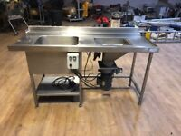 Heavy duty Commercial stainless steel catering sink