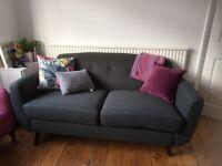 "2 x DFS ""Laze"" large sofa's and 1 x ""Laze"" footstool"