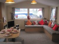 For sale new static caravan holiday home CH & DG- direct beach access! Area of outstanding beauty!