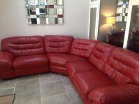 Leather scs coner sofa *****price drop******* £250