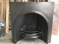 Period London Arch Cast Iron Fireplace Insert Sorround