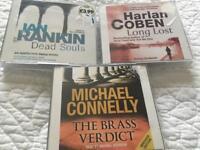 3 audio books