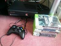 Xbox 360 250gb with 9 games and 2 games on hardrive