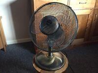 Vintage look electric fan