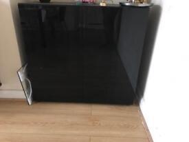 Glass door fish tank cabinate