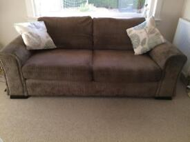 DFS 3 seater sofa & 2 seater sofa bed