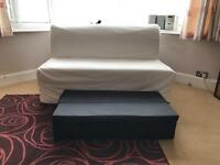 Lycksele 2 seater white sofa bed IKEA