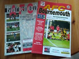 AFC Bournemouth Home Programmes 1988/89 to 1996/97