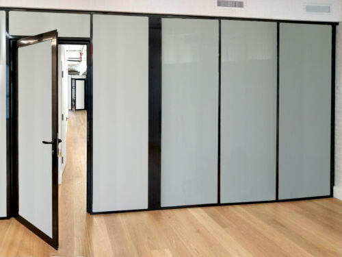 CGP Office Partitions, Frosted Glass Aluminum Wall 10