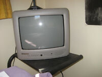 FREE small tv and set top box