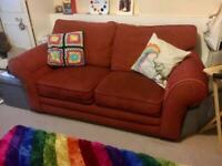 Free! Burgundy red two-seater sofa