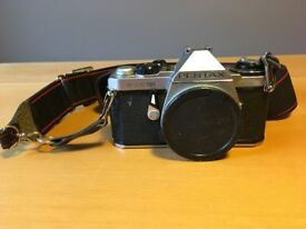 Pentax ME Super SLR film camera, lenses and lots of extras for sale