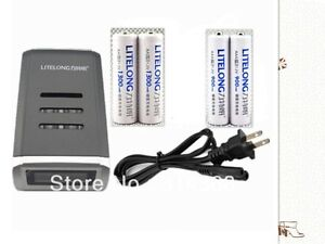 2 x AA / AAA Ni-MH rechargeable battery + Charger for AA AAA Alkaline NiMH Ni-Cd