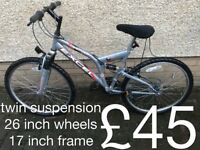 Ladies Mountain Bikes £30 - £140 mountain bike cycle commuter student mtb full working order