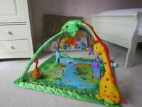 Fisher Price Rainforest Melodies & Lights Deluxe Gym/Play Mat