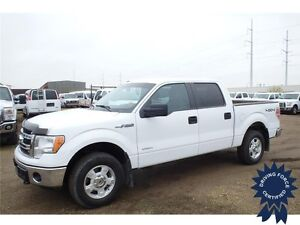 White 2013 Ford F-150 XLT 4WD SuperCrew, 3.5L V6, 69,366 KMs