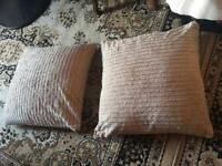 2 sofa cushions with cover cotton sizes 60X60cm used £6