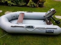 Kudos 4 man inflatable dingy with infatable floor.(No engine)
