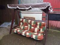 Wooden Garden Patio Furniture Seat Swing Delivery available £40