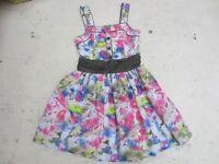 Girl's multi-coloured dress, 13 yrs