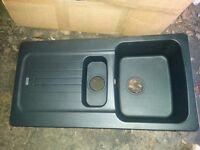 Sink - Franke Aveta 1.5 Bowl Black Tectonite Reversible