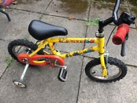 Ideal first bike with stabilisers