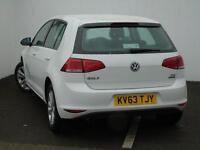 Volkswagen Golf SE TDI BLUEMOTION TECHNOLOGY DSG (white) 2013-09-25
