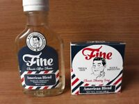 Fine American Blend Shaving Soap & Aftershave Set