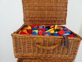 Basket full of large Lego