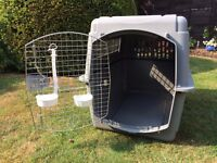 """Petmate Airline Approved Large Sky Kennel- Excellent Condition. Only Been Used Once. 40""""x 27""""x 30"""""""
