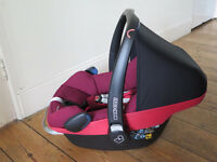 MaxiCosi Pebble Plus infant car seat, excellent condition, RRP £189, i-size compatible