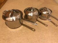 Prestige set of 3 saucepans