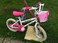 Girls bikes with pretty baskets and tassels. Great condition