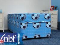 New Single Sport Divan Bed with Mattress