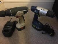 Two cordless drills