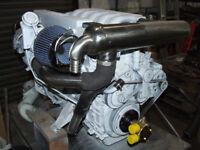 BMW 150HP MARINE DIESEL BOAT ENGINE VOLVO 280 STERNDRIVE SHIELD TILT COMPLETE